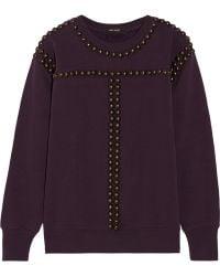 Isabel Marant Scotty Studded Cotton Sweatshirt - Lyst