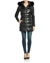 BCBGMAXAZRIA Three-quarter-length Down Coat - Lyst