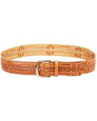 Linea Pelle Vintage Lace Braid Belt - Lyst