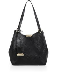 Burberry | Canter Small House Check-embossed Pebbled Shoulder Bag | Lyst