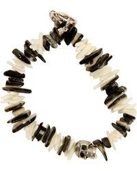 Duchess Of Malfi Black Lip Shell And White Coral Skull Bracelet black - Lyst