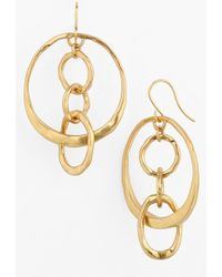 Tory Burch Hammered Drop Earrings - Aged Gold - Lyst