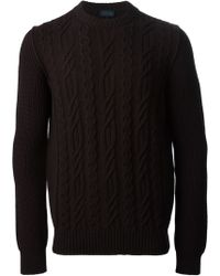 Lanvin Red Ribbed Sweater - Lyst