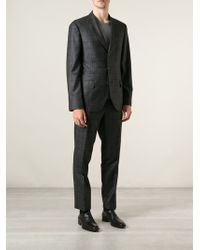 Brunello Cucinelli Gray Patterned Suit - Lyst