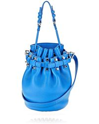 Alexander Wang Small Diego In Airforce Soft Pebbled Leather With Rhodium - Lyst
