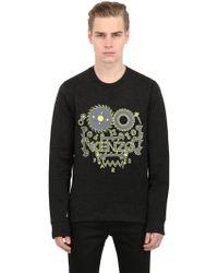 Kenzo Monster Logo Cotton Blend Sweatshirt - Lyst