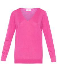Balenciaga V-Neck Cashmere Sweater - Lyst