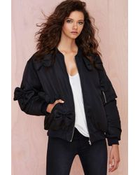Nasty Gal Daniel Palillo Bow Down Bomber Jacket - Lyst