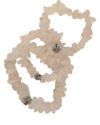 Duchess Of Malfi - Rose Quartz Skull Bracelet - Lyst