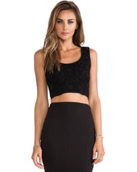 RVN Geo 3d Jacq Crop Top
