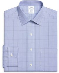 Brooks Brothers Noniron Slim Fit Houndstooth Overcheck Dress Shirt - Lyst