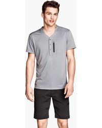 H&M Gray Sports Tshirt - Lyst