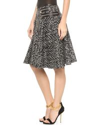 Versace Full Skirt  Black - Lyst
