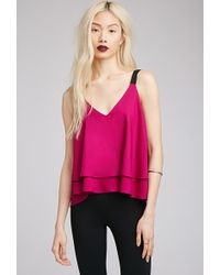 Forever 21 Layered Boxy V-Neck Tank - Lyst