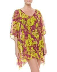 Jean Paul Gaultier Floral-Print Sheer Coverup - Lyst