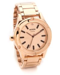 Nixon Camden Watch  Rose Gold - Lyst