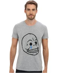 Cheap Monday Bruce Tee Crying Skull - Lyst
