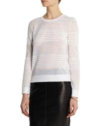 CALVIN KLEIN 205W39NYC - Striped Fine-knit Wool-blend Jumper - Lyst