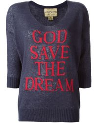 Wildfox God Save The Dream Sweater - Lyst