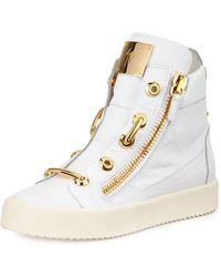 Giuseppe Zanotti Crocodile-stamped High-top Sneaker - Lyst