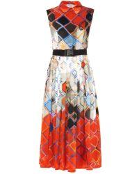 Preen Darwen Geometric And Insect-Print Dress - Lyst