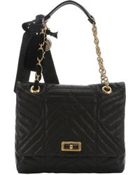 Lanvin Black Quilted Leather 'Happy' Medium Shoulder Bag - Lyst