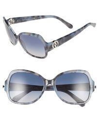 Tory Burch | 57mm Rectangle Sunglasses | Lyst