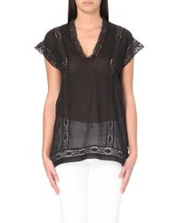 Etoile Isabel Marant Sheer Cotton Top - For Women - Lyst