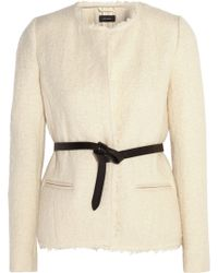 Isabel Marant Satchell Belted Wool-Blend Bouclé Jacket - Lyst