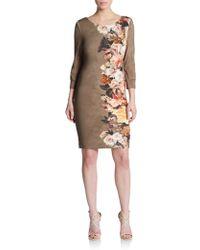 ABS By Allen Schwartz Floral-Print Knit Dress - Lyst