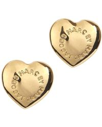 Marc By Marc Jacobs - Gold Tone Heart Stud Earrings - Lyst