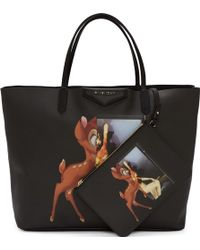 Givenchy Black Pvc Bambi Mashup Antigona Shopper Tote - Lyst