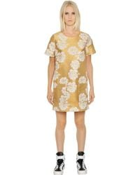 Essentiel - Cotton Blend Floral Jacquard Dress - Lyst