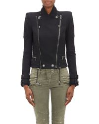 Balmain Double-face Jersey Moto Jacket - Lyst