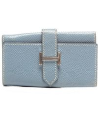 Hermes Pre-Owned Blue Jean Epsom 6 Ring Key Case - Lyst