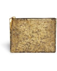 Giuseppe Zanotti Stud Brush Leather Zip Pouch - Lyst