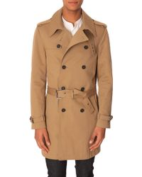 The Kooples Beige Trench With Belt - Lyst