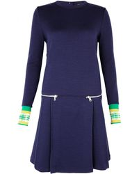 Marc By Marc Jacobs Contrast Cuff Dress - Lyst
