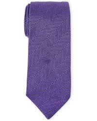 Duchamp | Zigzag Silk Tie | Lyst