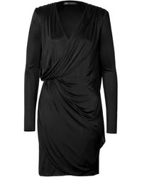 Versace Draped Cocktail Dress - Lyst