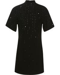 Christopher Kane Gem Studded Wool Crepe Dress - Lyst