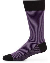Saks Fifth Avenue Black Label Striped Socks - Lyst