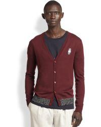 Carven Logo Cardigan Sweater - Lyst