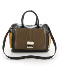 See By Chloé Nellie Zipped Handbag with Cross Body Strap  Blackmilitarybamboo - Lyst