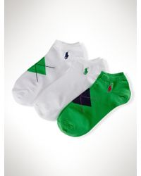 Ralph Lauren Argyle Low-profile-sock 3-pack - Lyst