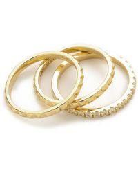 Elizabeth And James Divi Delgado Ring Set - Goldwhite Topaz - Lyst
