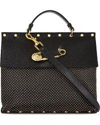Versus  Versus Pin Flap Studded Handbag - Lyst
