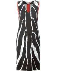 Roberto Cavalli Striped Fitted Dress - Lyst