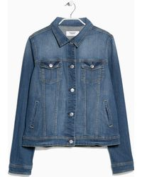 Mango Medium Denim Jacket - Lyst