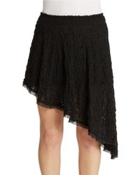 Free People Lace Asymmetrical Skirt black - Lyst